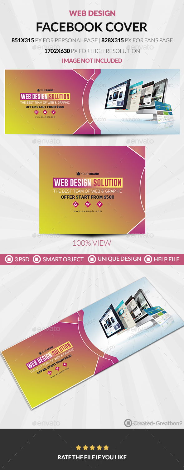 GraphicRiver Web Design Facebook Cover 20509166