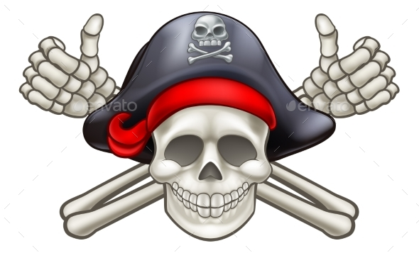 GraphicRiver Pirate Skull and Crossbones 20509246