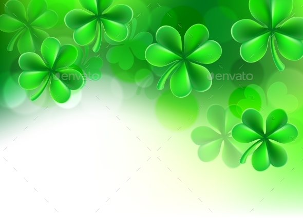 St Patricks Day Shamrock Clover Background - Miscellaneous Vectors