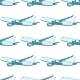 Aircraft Aviation Airplane Air Transport Seamless