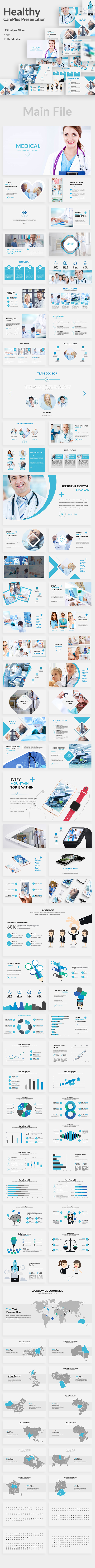 Health CarePlus Google Slide Template - Google Slides Presentation Templates