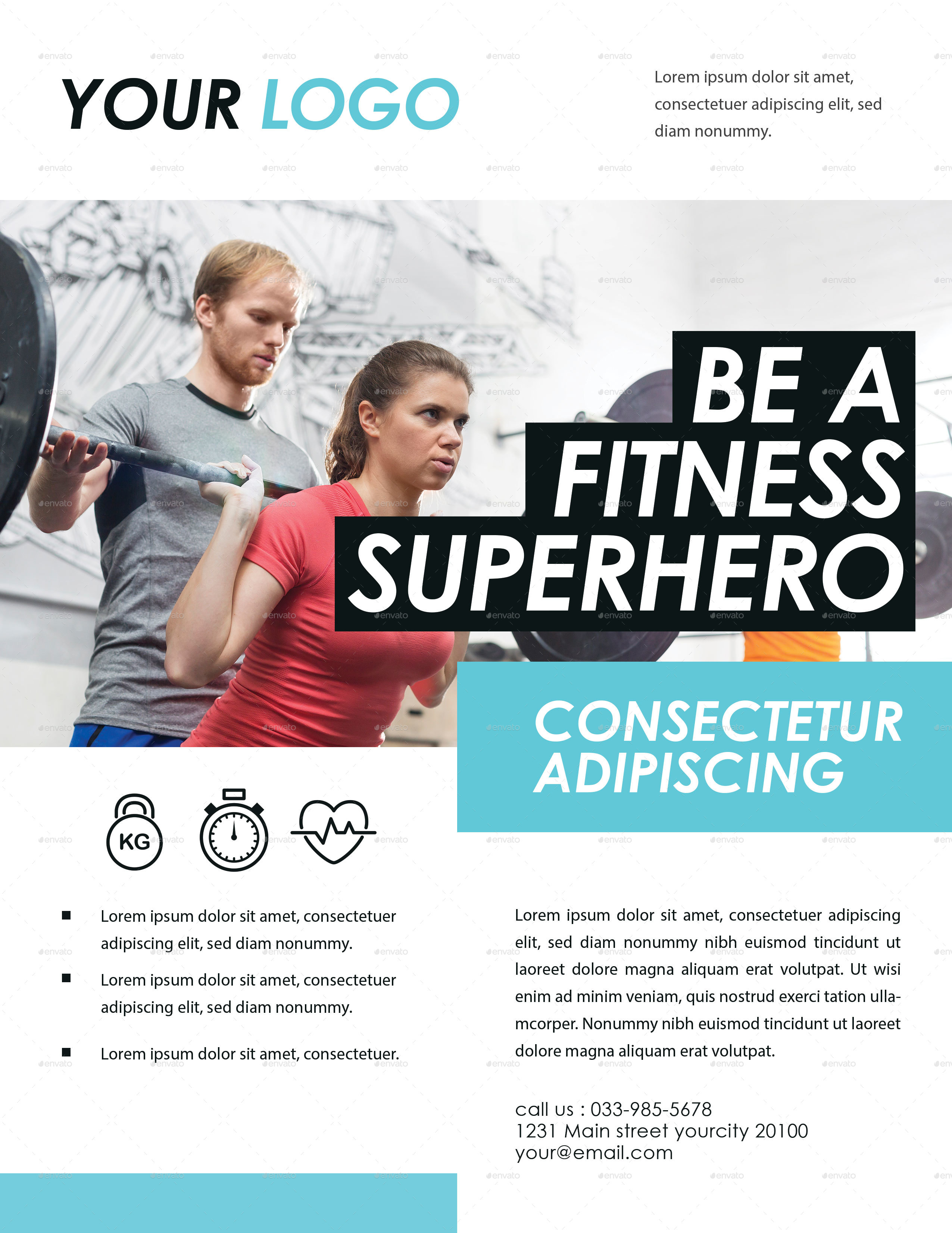 Preview Image Set/01_Fitness Flyer ...