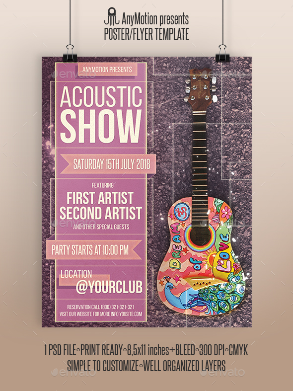 GraphicRiver Acoustic Show Flyer Poster 20509680