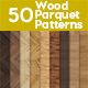 50 Seamless Wood Parquet Patterns