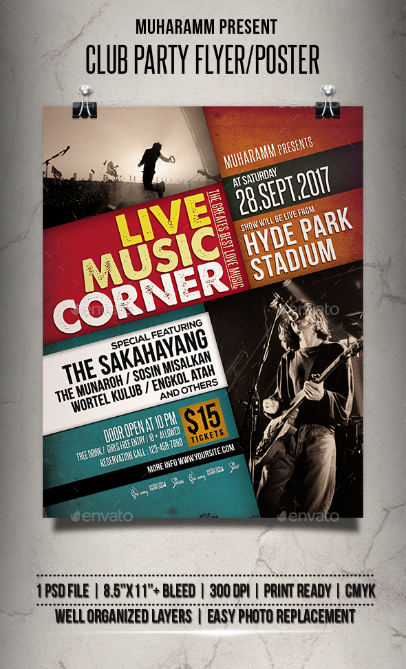 GraphicRiver Live Music Event Flyer Poster 20509777