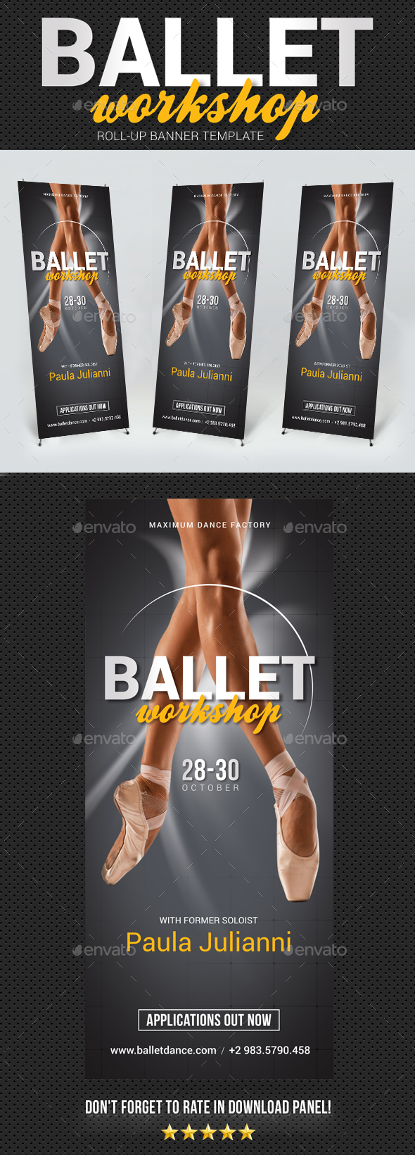 Ballet Workshop Banner Template - Signage Print Templates