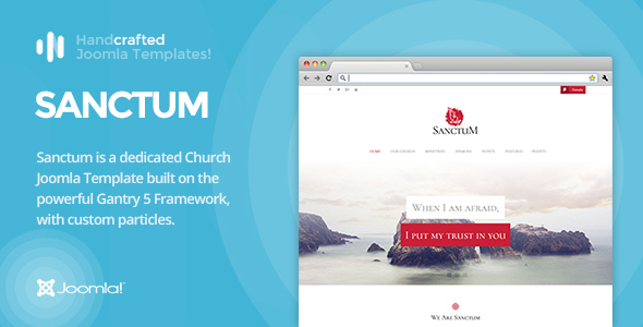 Image of IT Sanctum - Gantry 5, Church & Nonprofit Joomla Template