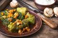 Cabbage rolls stuffed vegetable,