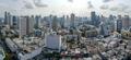 Bangkok City Panorama, Nana and Sukhumvit Road Aerial Photography