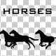 Horses Silhouette Animation