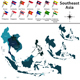 Political Map of Southeast Asia - GraphicRiver Item for Sale