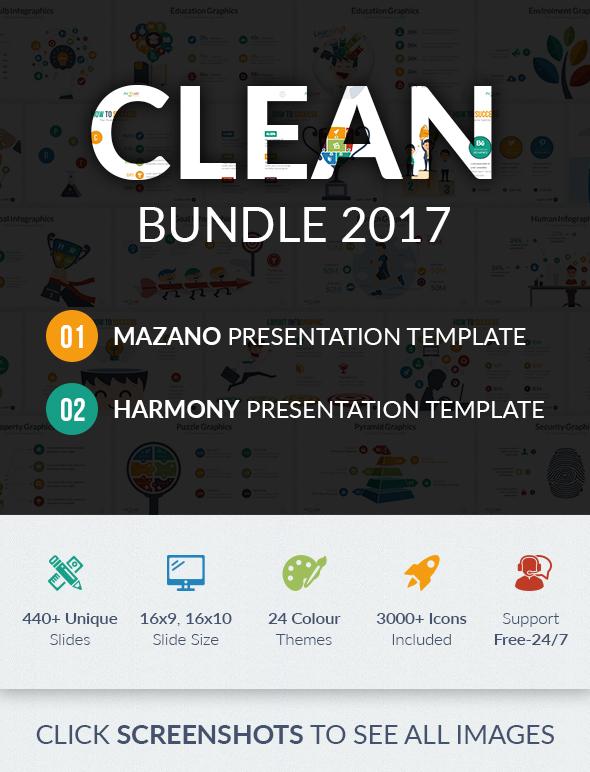 Clean Google Slide Bundle 2017 - Google Slides Presentation Templates