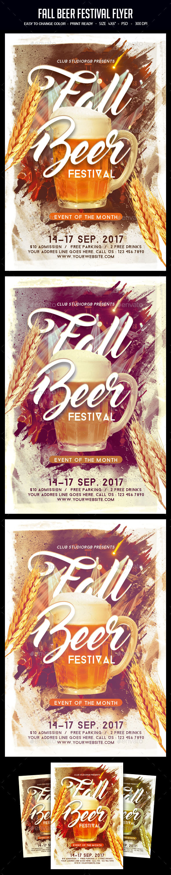 Fall Beer Festival Flyer - Clubs & Parties Events