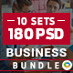 Business Banners Bundle - 10 Sets - 180 Banners
