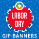 Labor Day Animated GIF Banners