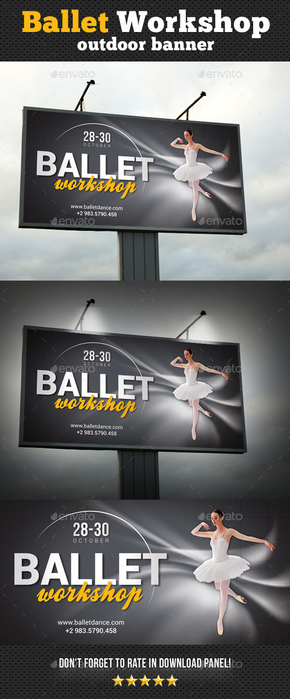 GraphicRiver Ballet Workshop Outdoor Banner 20510223