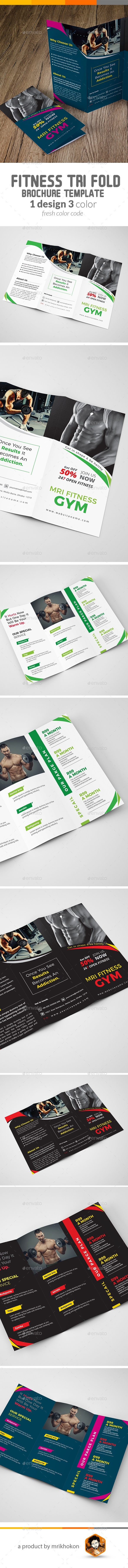 Fitness/Gym Tri fold Brochure