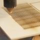 Laser Machine Processes Plywood