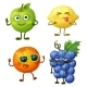 Fruit Characters Isolated on White - GraphicRiver Item for Sale