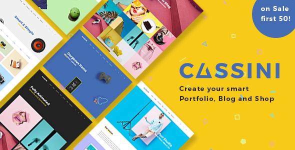 Cassini - Portfolio and Shop WordPress Theme
