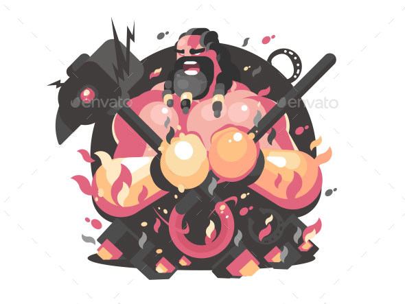 GraphicRiver Hephaestus Ancient Greek God 20511056