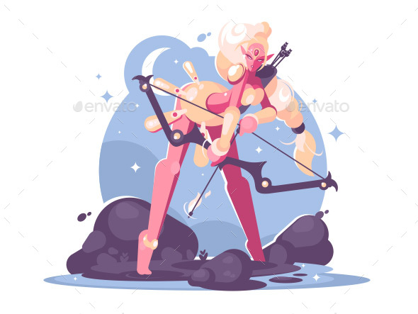 Character Archer Cartoon Girl Elf - Miscellaneous Characters