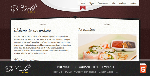 bigcommerce template variables - te contei restaurant template by demente design themeforest
