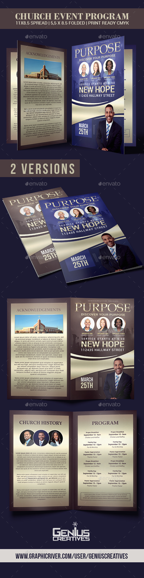 GraphicRiver Purpose Church Program Template 20511564