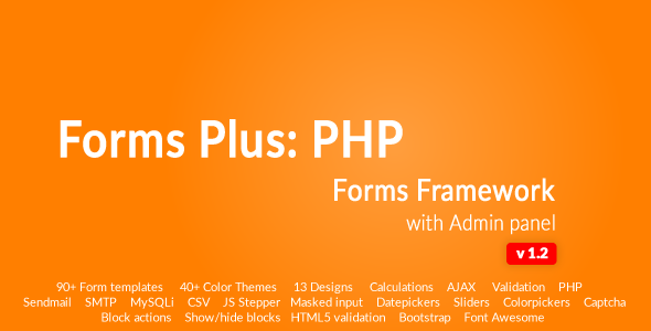 Form Framework with Admin Panel - Forms Plus: PHP - CodeCanyon Item for Sale
