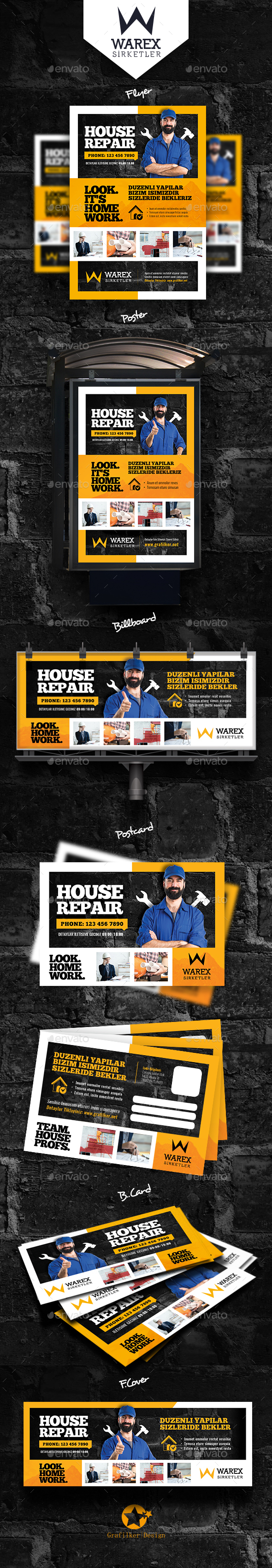 House Repair Bundle Templates - Corporate Flyers