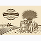 Vintage Thanksgiving Landscape Brown - GraphicRiver Item for Sale