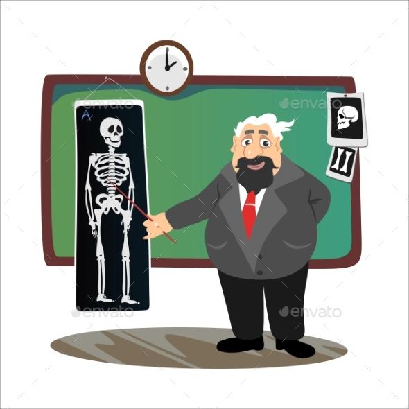 GraphicRiver Professor Near the Blackboard with Formulas 20512248