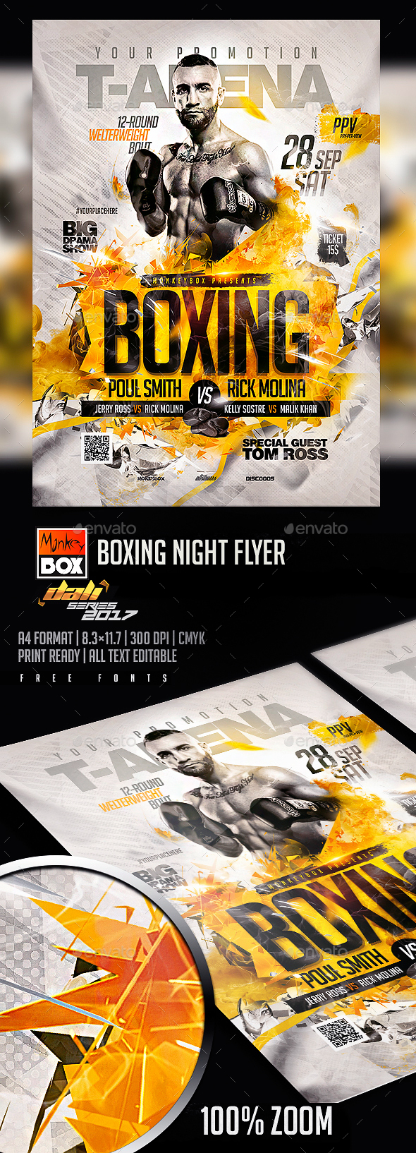 GraphicRiver Boxing Night Flyer 20512277