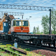 Train with special track equipment at repairs - PhotoDune Item for Sale