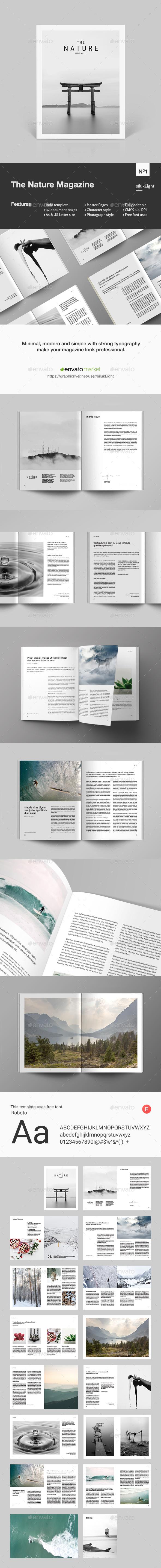 The Nature Magazine - Magazines Print Templates