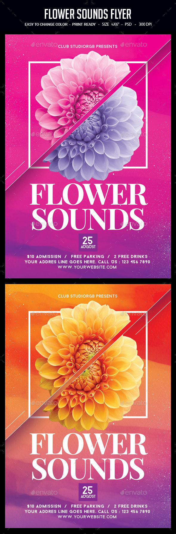 GraphicRiver Flower Sounds Flyer 20512620