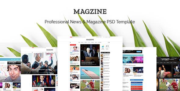 ThemeForest MAGZINE News Magazine Newspaper PSD Templates 20512648