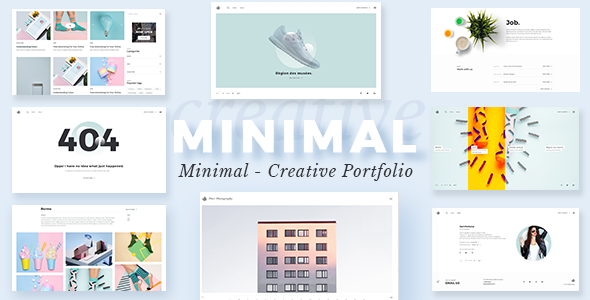 Minimalist - Portfolio WordPress Theme