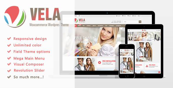 Vela - Multi-Purpose WooCommerce WordPress - WooCommerce eCommerce