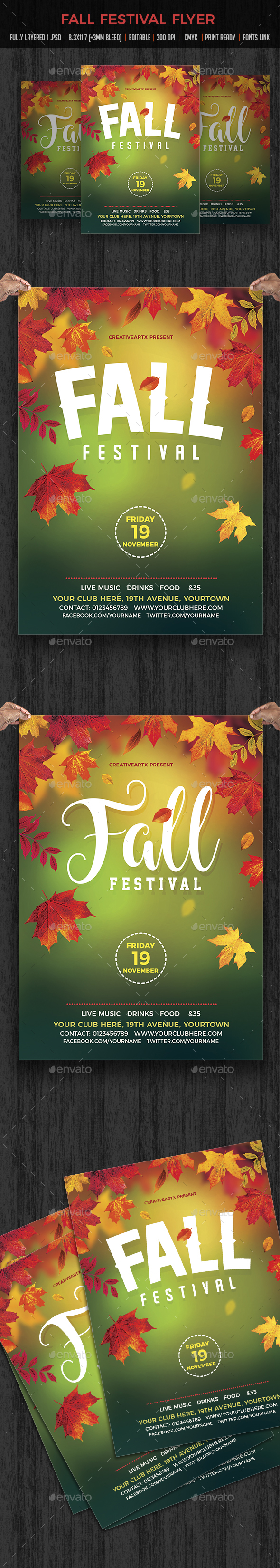 Fall Party - Events Flyers