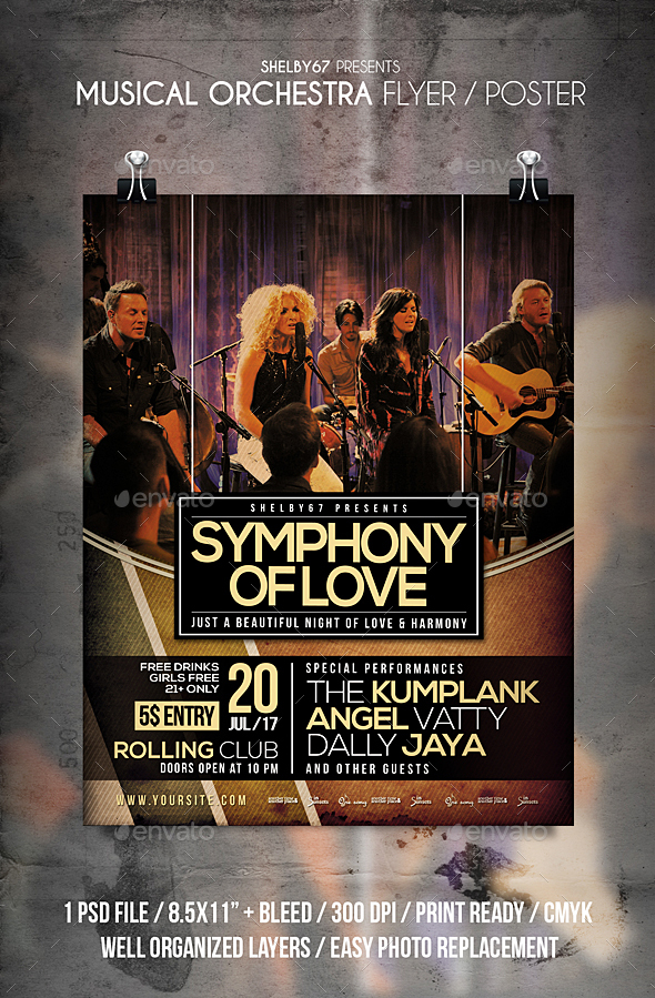 Musical Orchestra Flyer / Poster - Events Flyers