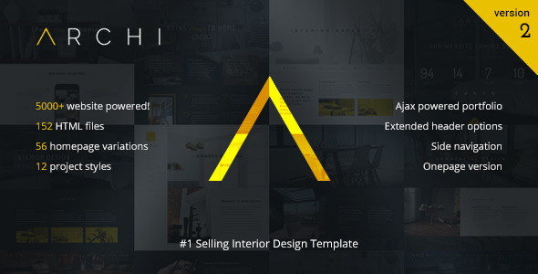 Archi - Interior Design Website Template - Creative Site Templates