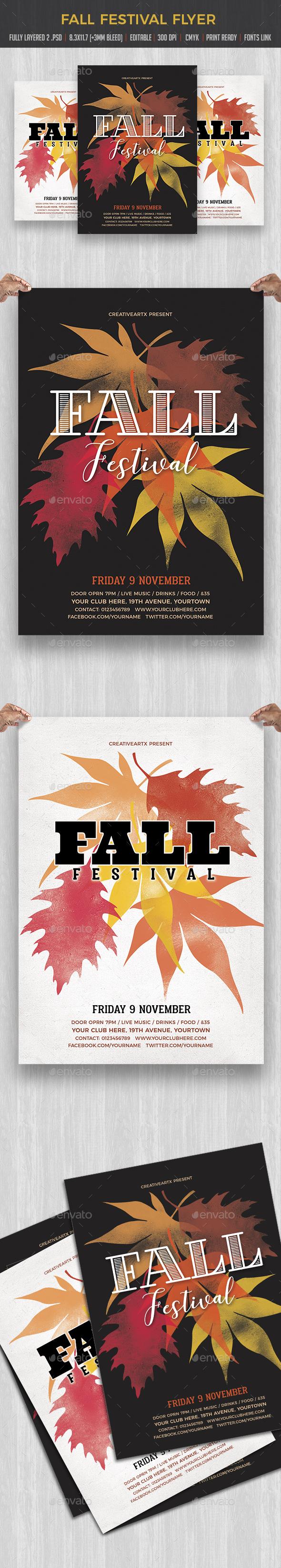 Fall Festival - Flyers Print Templates