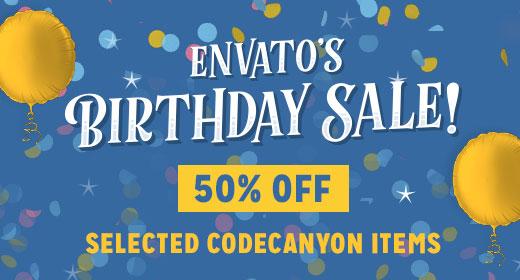 Birthday Sale 2017 - CodeCanyon