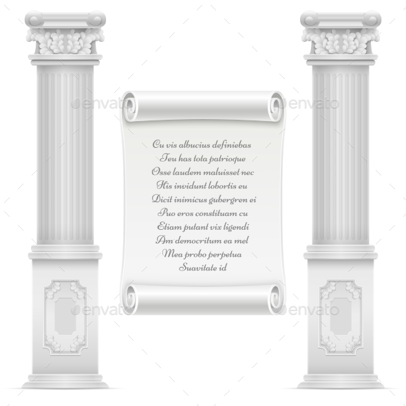 GraphicRiver Antique Roman Architecture Design with Marble 20513316