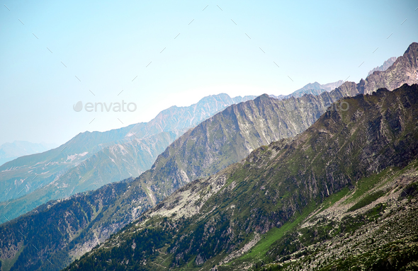 Landscape of French Alps - Stock Photo - Images