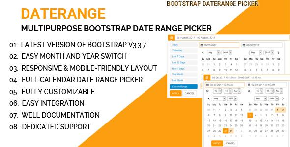 CodeCanyon DateRange Multipurpose Bootstrap Date Range Picker 20513420