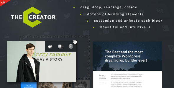 Creator - Visual Page Builder for WordPress - CodeCanyon Item for Sale