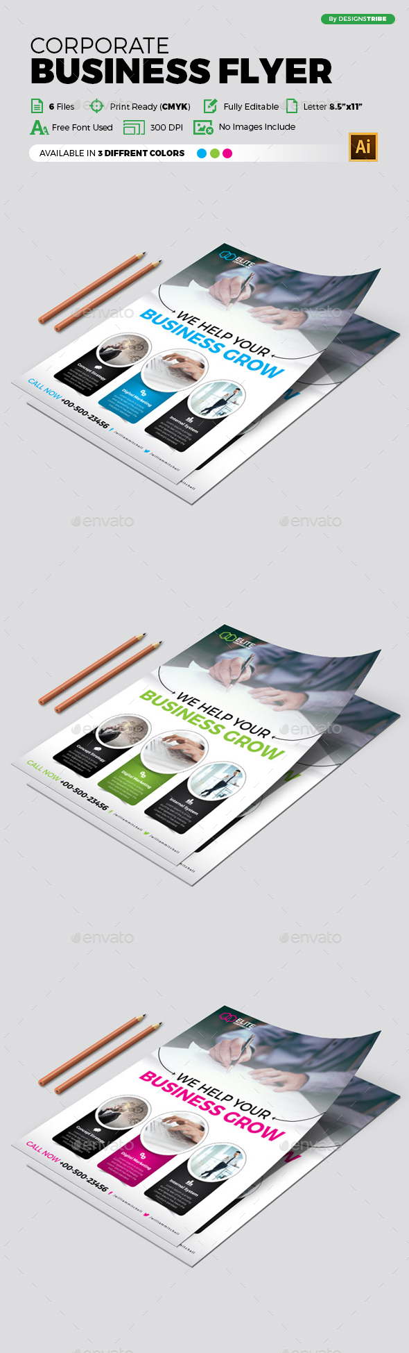 Flyer – Multipurpose 333 - Flyers Print Templates