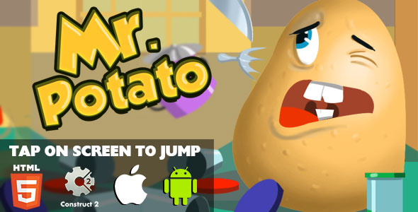 Mr. Potato - HTML5 Game (CAPX) - CodeCanyon Item for Sale
